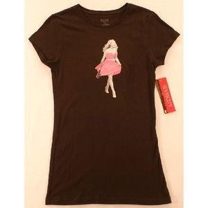 Sex and City Tee L Black Pink Dress NWT